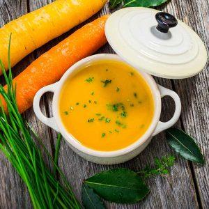 pottage carottes miso orange vegane